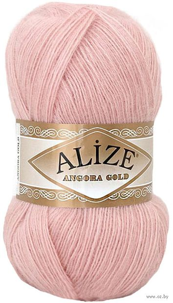 "Пряжа ""ALIZE. Angora Gold №161"" (100 г; 550 м; бледно-розовый) — фото, картинка"