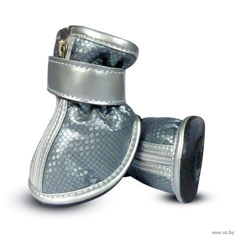 Ботинки (5,5х4х5,5 см; серебристые) — фото, картинка
