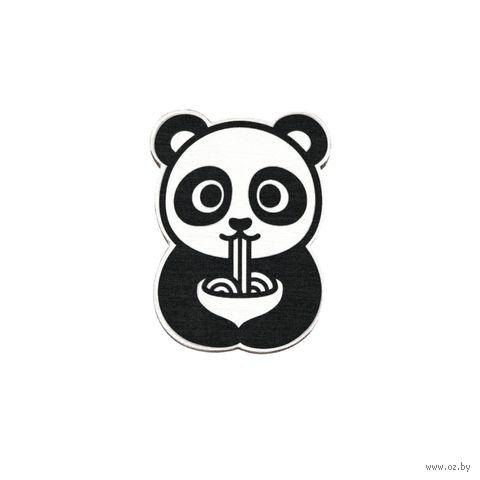 """Значок деревянный """"Панда"""" (арт. 299) — фото, картинка"""