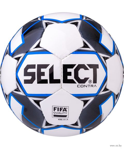 """Мяч футбольный Select """"Contra FIFA"""" №5 (белый/синий/серый/чёрный) — фото, картинка"""