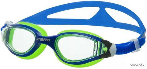 Очки для плавания (сине-салатовые; арт. B601) — фото, картинка