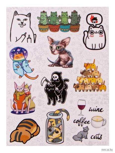 """Набор наклеек №656 """"Cat"""" — фото, картинка"""