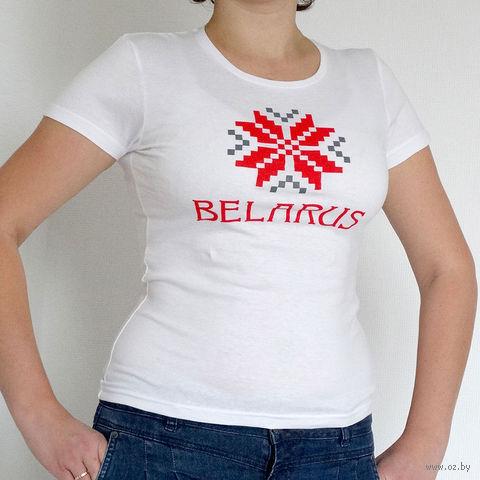 """Футболка женская L """"Belarus"""" (белая)"""