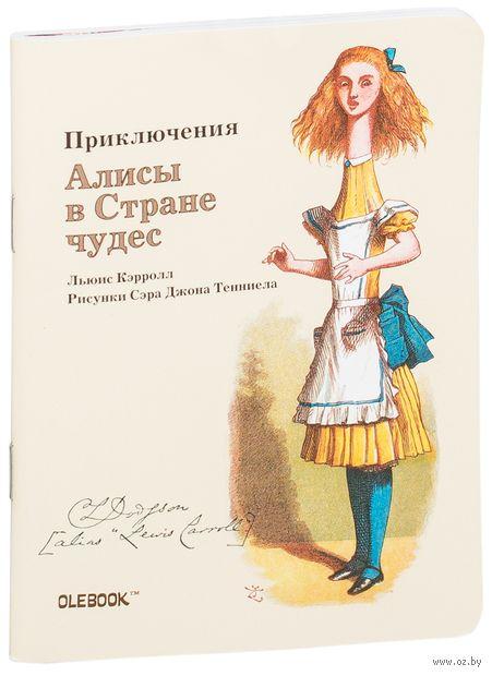 """Блокнот в клетку """"Приключения Алисы в Стране чудес. Телескопическая Алиса"""" (A6) — фото, картинка"""