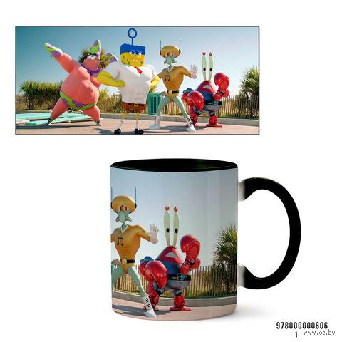 """Кружка """"Спанч Боб"""" (черная) — фото, картинка"""