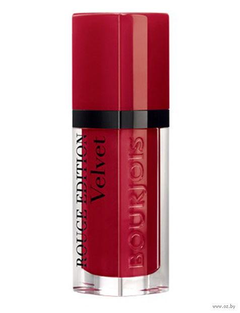"""Помада-флюид для губ """"Rouge edition velvet"""" (тон: 15, насыщенно-красный) — фото, картинка"""