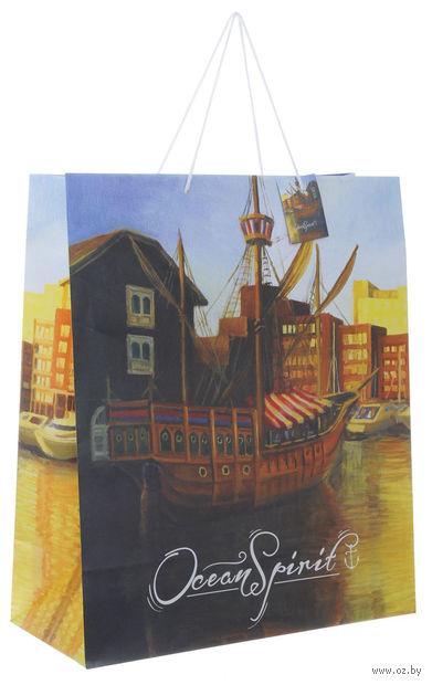 """Пакет бумажный подарочный """"Генуя"""" (40,6х48,9х19 см; арт. 40864) — фото, картинка"""