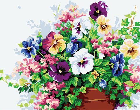 """Картина по номерам """"Цветочная композиция"""" (400х500 мм) — фото, картинка"""