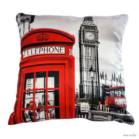 "Подушка ""Англия. Лондон"" (35х35 см; арт. A0033) — фото, картинка"