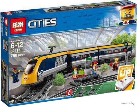 """Конструктор Cities """"Пассажирский поезд"""" — фото, картинка"""