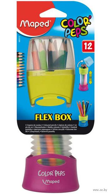 "Набор карандашей цветных ""Color Peps Flexbox"" (12 цветов)"