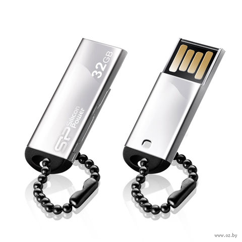 USB Flash Drive 32Gb Silicon Power Touch 830 (Silver)