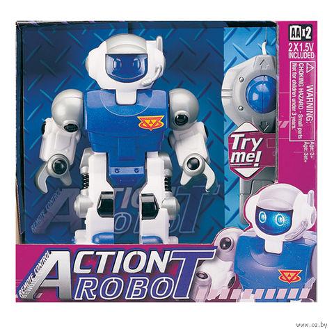 """Робот на радиоуправлении """"Робот синий"""" (со звуковыми и световыми эффектами)"""
