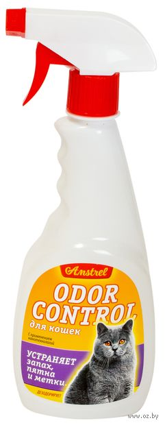 """Средство """"Оdor control"""" для устранения запахов, пятен и меток кошек (с ароматом; 500 мл)"""