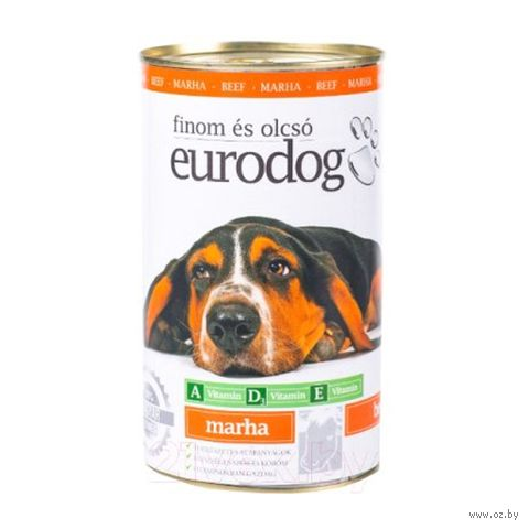"""Консервы для собак """"Eurodog"""" (1,24 кг; говядина) — фото, картинка"""