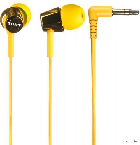Наушники Sony MDR-EX150 (желтые) — фото, картинка
