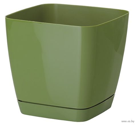 """Цветочный горшок """"Тоскана"""" (15х15х14,5 см; оливковый) — фото, картинка"""
