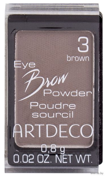 "Тени для бровей ""Eye Brow Powder"" (тон: 3, brown) — фото, картинка"