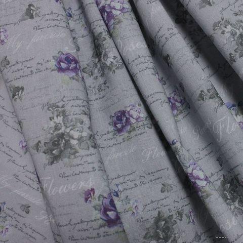 "Ткань ""Бабочки и розы"" №2 — фото, картинка"