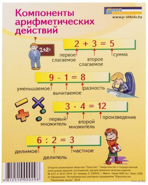 Компоненты арифметических действий. Единицы измерения — фото, картинка