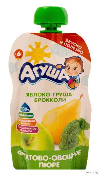 """Детское пюре Агуша """"Яблоко, груша, брокколи"""" (90 г) — фото, картинка"""