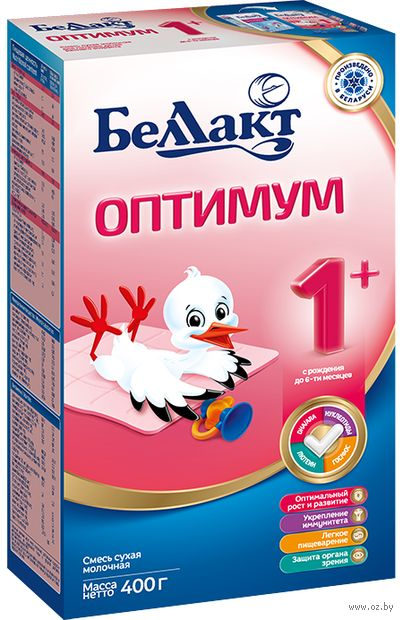"""Сухая молочная смесь Беллакт """"Оптимум 1+"""" (400 г) — фото, картинка"""