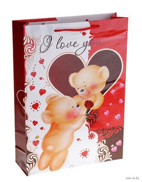 "Пакет бумажный подарочный ""Все для тебя"" (38х27х9 см; арт. 10572417)"