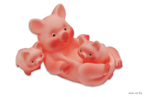 """Набор игрушек для купания """"Свинка с поросятами"""""""