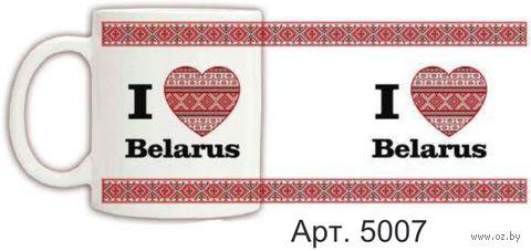 Кружка керамическая с белорусским орнаментом 330 мл. (арт. 5007)