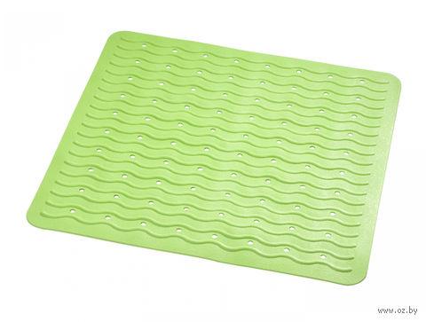 """Коврик для ванной резиновый """"Волна"""" (54х54 см; зеленый) — фото, картинка"""