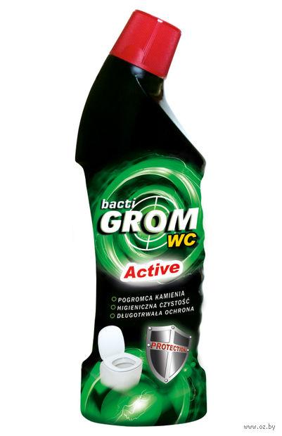"""Средство для чистки ванной комнаты и туалета """"Bacti grom active"""" (500 мл) — фото, картинка"""