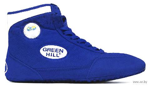 Обувь для борьбы GWB-3052/GWB-3055 (р. 35; сине-белая) — фото, картинка