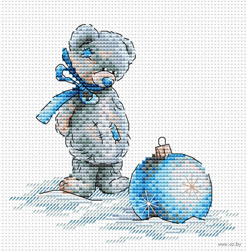 """Вышивка крестом """"Новогодний шар"""" (150х150 мм) — фото, картинка"""