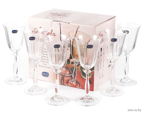 "Бокал для вина стеклянный ""Angela"" (6 шт.; 185 мл; арт. 40600/1/185) — фото, картинка"