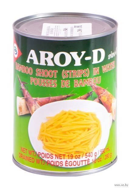 """Ростки бамбука """"Aroy-D. Полоски"""" (540 г) — фото, картинка"""