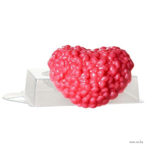 """Форма для изготовления мыла """"Сердце цветочное"""""""