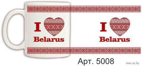 Кружка керамическая с белорусским орнаментом 330 мл. (арт. 5008)