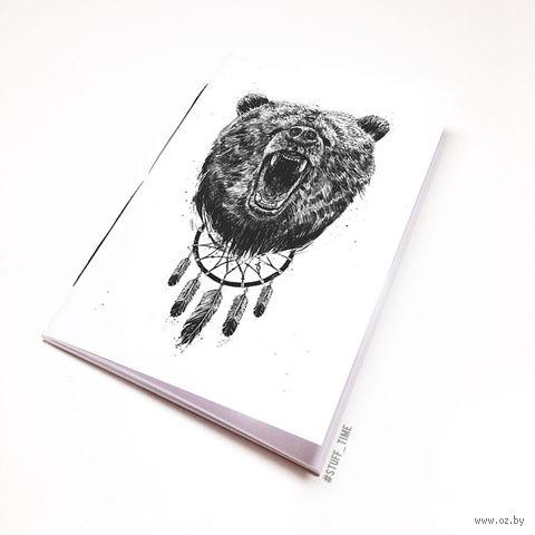 """Блокнот белый """"Медведь"""" А5 (арт. 944)"""