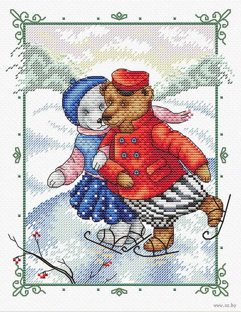 "Вышивка крестом ""Танцы на льду"" (230х180 мм) — фото, картинка"