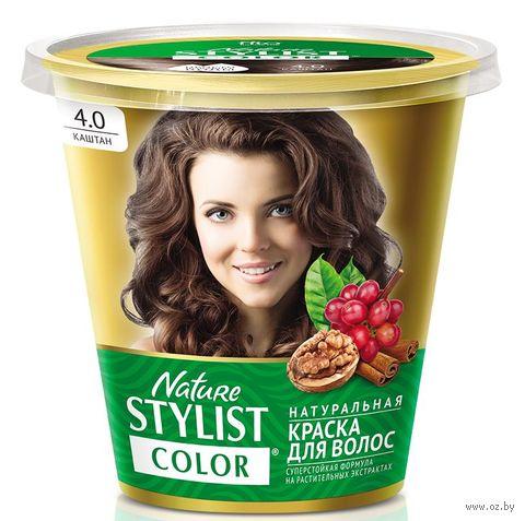 "Краска для волос ""Nature Stylist Color"" тон: 4.0, каштан — фото, картинка"