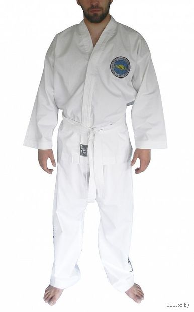 Кимоно для таэквондо ИТФ AX8 (р. 24-26/120; белое; с шелкографией) — фото, картинка