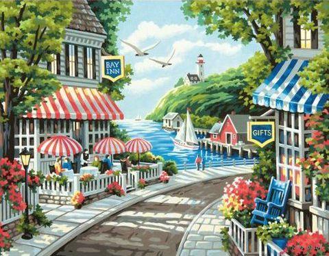 "Картина по номерам ""Кафе у моря"" (280х360 мм; арт DMS-73-91455)"