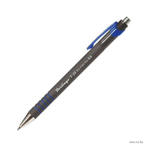 """Ручка шариковая автоматическая """"V-25"""" (синяя)"""