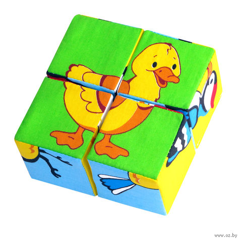 "Кубики мягкие ""Птицы"" (4 шт.) — фото, картинка"