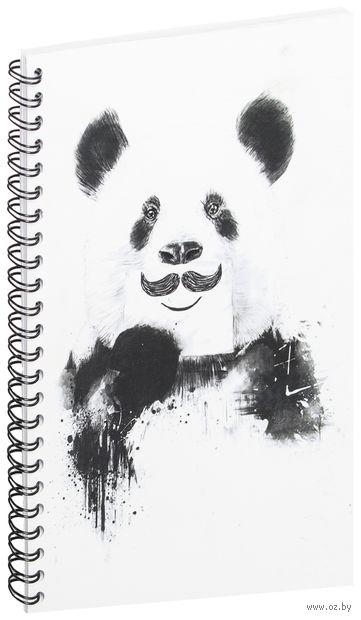"""Блокнот в клетку """"Панда с усами"""" (A5; арт. 506) — фото, картинка"""