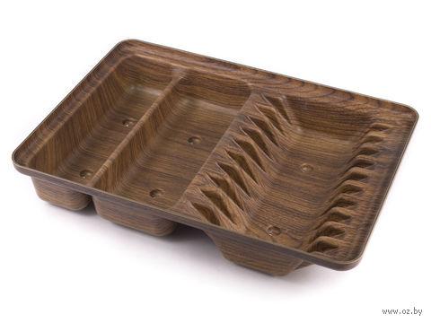 Сушилка для посуды пластмассовая (305х435х75 мм) — фото, картинка