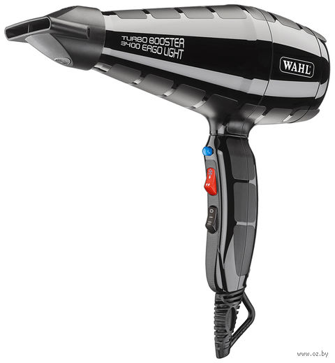 Профессиональный фен Wahl Turbo Booster 3400 Ergolight 4314-0470 (черный) — фото, картинка