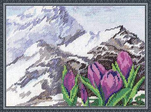 """Набор для вышивания """"Альпийские цветы"""" (290х210 мм) — фото, картинка"""