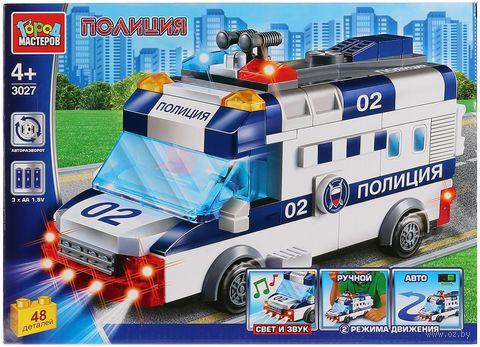 """Конструктор """"Полиция. Полицейская машина"""" (48 деталей; со световыми и звуковыми эффектами) — фото, картинка"""