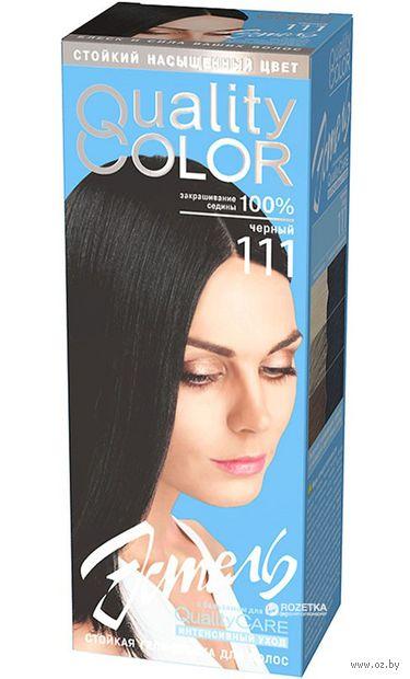 """Гель-краска для волос """"Эстель. Quality Color"""" (тон: 111, черный) — фото, картинка"""